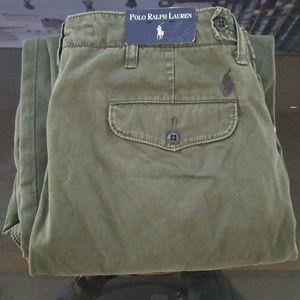 NWT Polo Ralph Lauren Green Khaki Pants Size 33